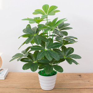 Image 2 - 60CM Artificial Real Touch Plant Monstera Tree without Pot, Fake Plant Tree Decoration For Home Garden