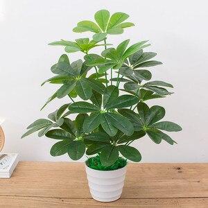 Image 2 - Arbre Monstera artificiel tactile 60CM, fausse plante sans Pot, décoration darbre pour la maison et le jardin