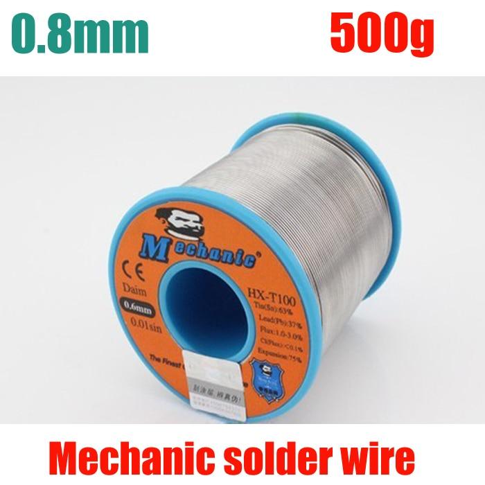 цены  NEW 63/37 Tin Lead 0.8mm Diameter Rosin Core Flux Solder Wire Reel Welding Soldering Welding repairs essential 500g