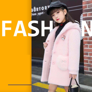 2019 Kid Girl Jackets Winter Wool Coat for Girls Teens Autumn Jacket Warm Outerwear Children Girls Plaid Windbreaker 2T-13T