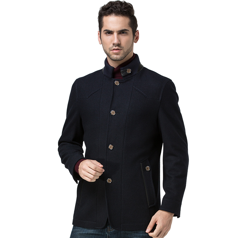 Mens Autumn Winter Brand Slim Type Double Breasted Wool Coat Men ...