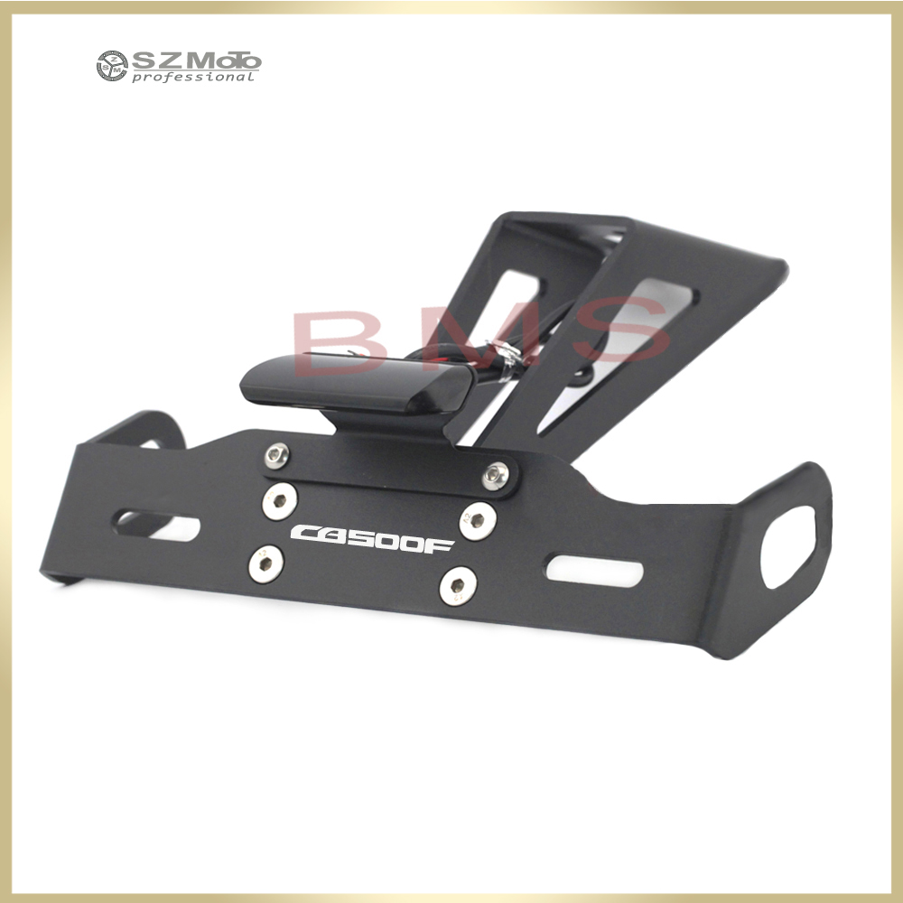 For HONDA CB500 <font><b>CB500F</b></font> 2016-2019 <font><b>2018</b></font> Motorcycle Tail Tidy Fender Eliminator Registration License Plate Holder frame LED Light image