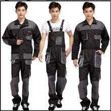 S-4XL 2017 Men New Work put on bib pants coverall work put on set protecting clothes Worker restore overalls Tooling Coverall