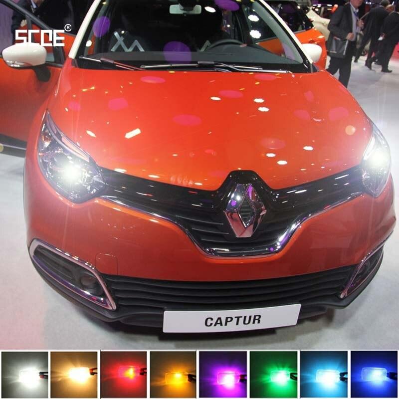где купить  For Renault Captur Clio/Clio Sport Tourer SCOE New 2X 12SMD LED Front Parking Light  Front Side Marker Light Source Car Styling  по лучшей цене