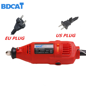 Image 3 - BDCAT EU/US plug dremel Grinder DIY Electric Hand mini Drill Machine with 122pcs Accessories Variable Speed Dremel Rotary tools
