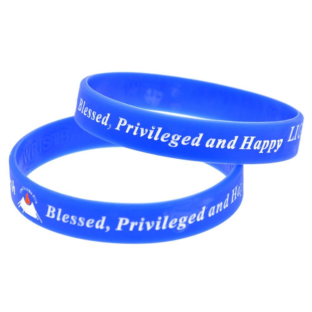 OneBandaHouse Personalized Design Logo Silicone Bracelet Ink Filled Colour