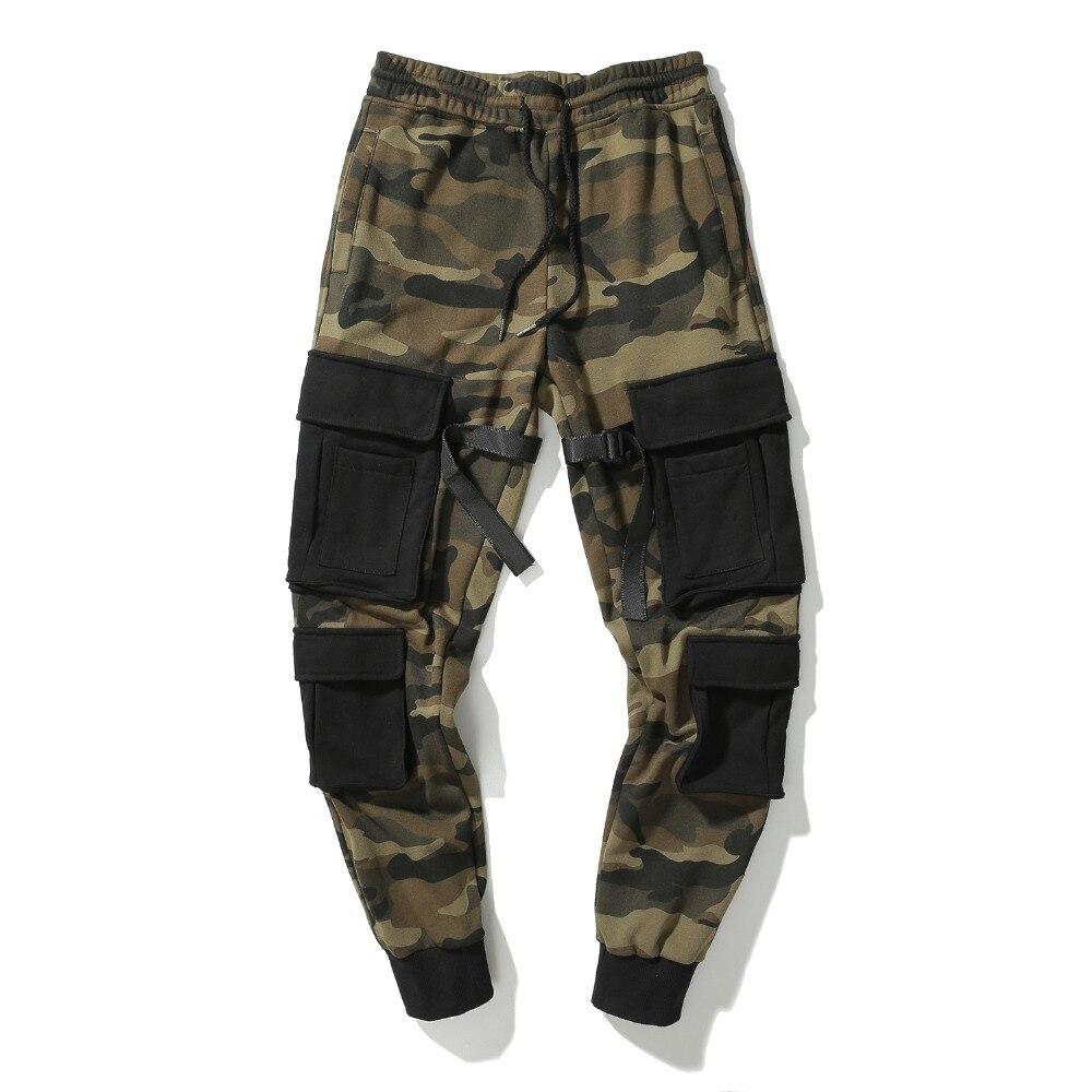2018 Cargo pantalon Camouflage Camo poches pantalons de survêtement Hip Hop haute rue pantalon hommes Joggers de haute qualité Style militaire