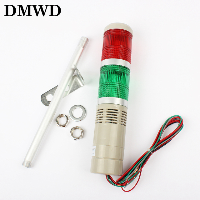 DC12V/24V Safety Stack Lamp Red Green Yellow Flash Industrial Tower Signal warning Light LTA-205 Red and green