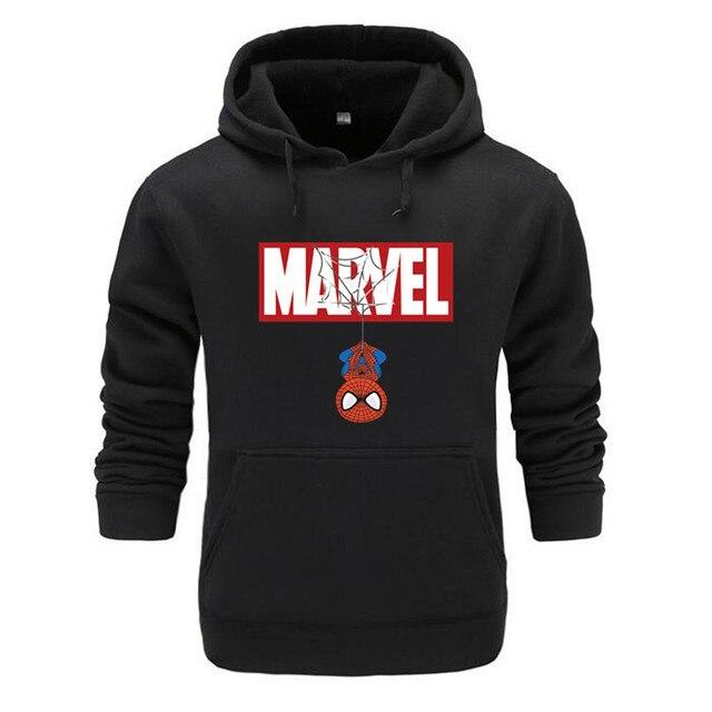 Marvel Hoodies Men Brand 2019 New Spiderman Funny Long Sleeve Hooded Sweatshirt Mens Hoodie Tracksuit Sweat Coat Casual homme 1