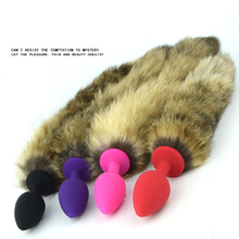 Female Anal Plug Real Fox Tail Butt Silicone Erotic Anus Sex Toys For Woman Couples Adult Product Cosplay