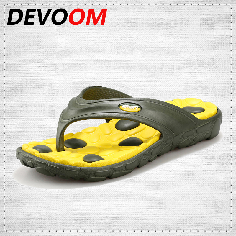DEVOOM Mens Flip Flops 2017 New Fashion Summer Slippers Casual Beach Sandals For Men Shoes Male Footwear Sapato masculino Zapato sandals men fashion new brand buckle mens flip flop sandals casual slippers brown summer beach sandals men shoes breathable