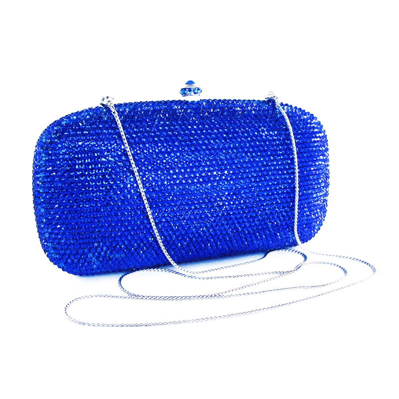 Royal Blue Crystal Diamond Women Evening Clutch Bag Bridal Wedding Metal Handbags Purses Ladies Clutches Shoulder Bags(B1034-DB) 3 kw hot tub spa heating element heater balboa gecko hydroquip high quality usa replacement heater element