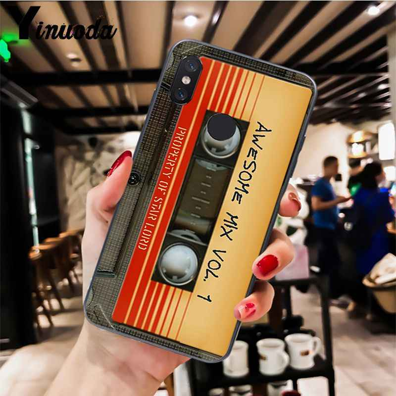 Yinuoda Retro CASSETTE TAPE สำหรับ Xiao Mi Redm4X 6A สีแดง Mi Go สีแดง Mi 5 PLUS Note4 Note5 7 Mi A1 A2Lite