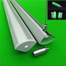 5 30 pçs/lote 40 polegada 1m perfil de alumínio pingente de canto de 45 graus para dupla fileira tira conduzida, leitoso/transparente capa para 20mm pcb
