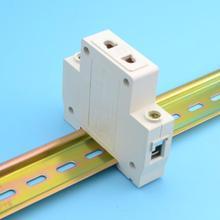 1 P один 1 полюс США ЕС 2 контактный разъем 35 мм DIN рейку AC мощность ac30 модульная розетка 10-16A 250 В AC разъем