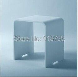 جديد ماتي الحديثة الحمام مقعد البراز كرسي الأبيض حجر الصلبة سطح البخار دش الضميمة كرسي 16x12 بوصة SW112
