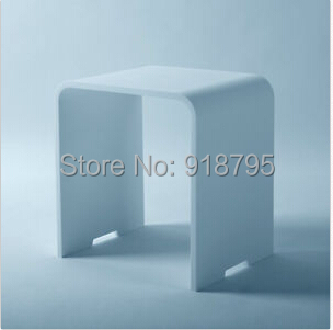 NEW MATTE Modern Bathroom Seat Stool Chair WHITE Stone Solid Surface Steam Shower Enclosure Chair 16 x 12 inch SW112