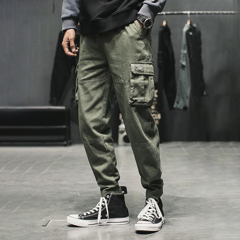 Men's Summer New Style Casual Tooling Multi-Pocket Fashion Comfortable Trouser Harajuku Male Solid Loose cargo pants Jogger(China)