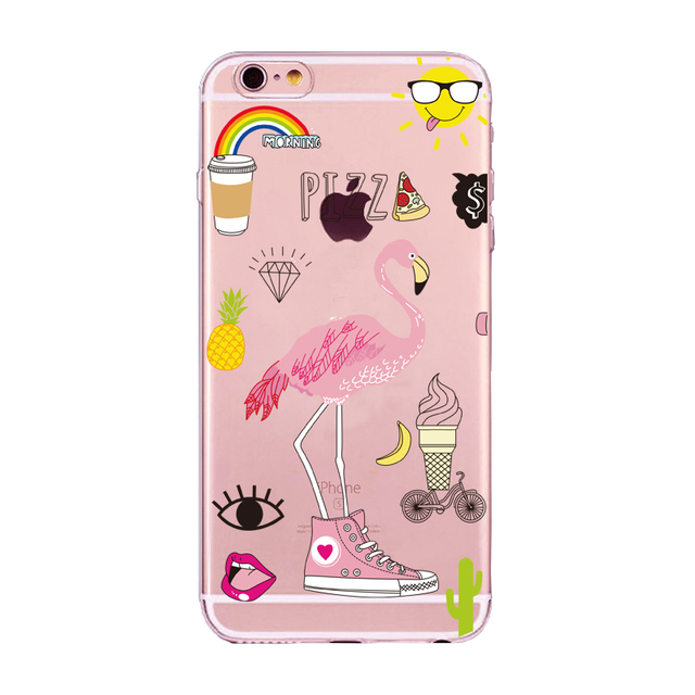 Colorful Flamingo Silicone Phone Cases for All iPhone Mobiles