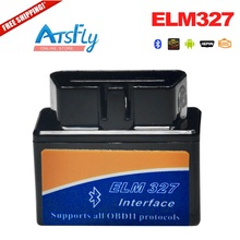 Free Shipping Latest Version Super Mini ELM327 Bluetooth OBD2 Diagnostic Scanner ELM 327 OBD car reader