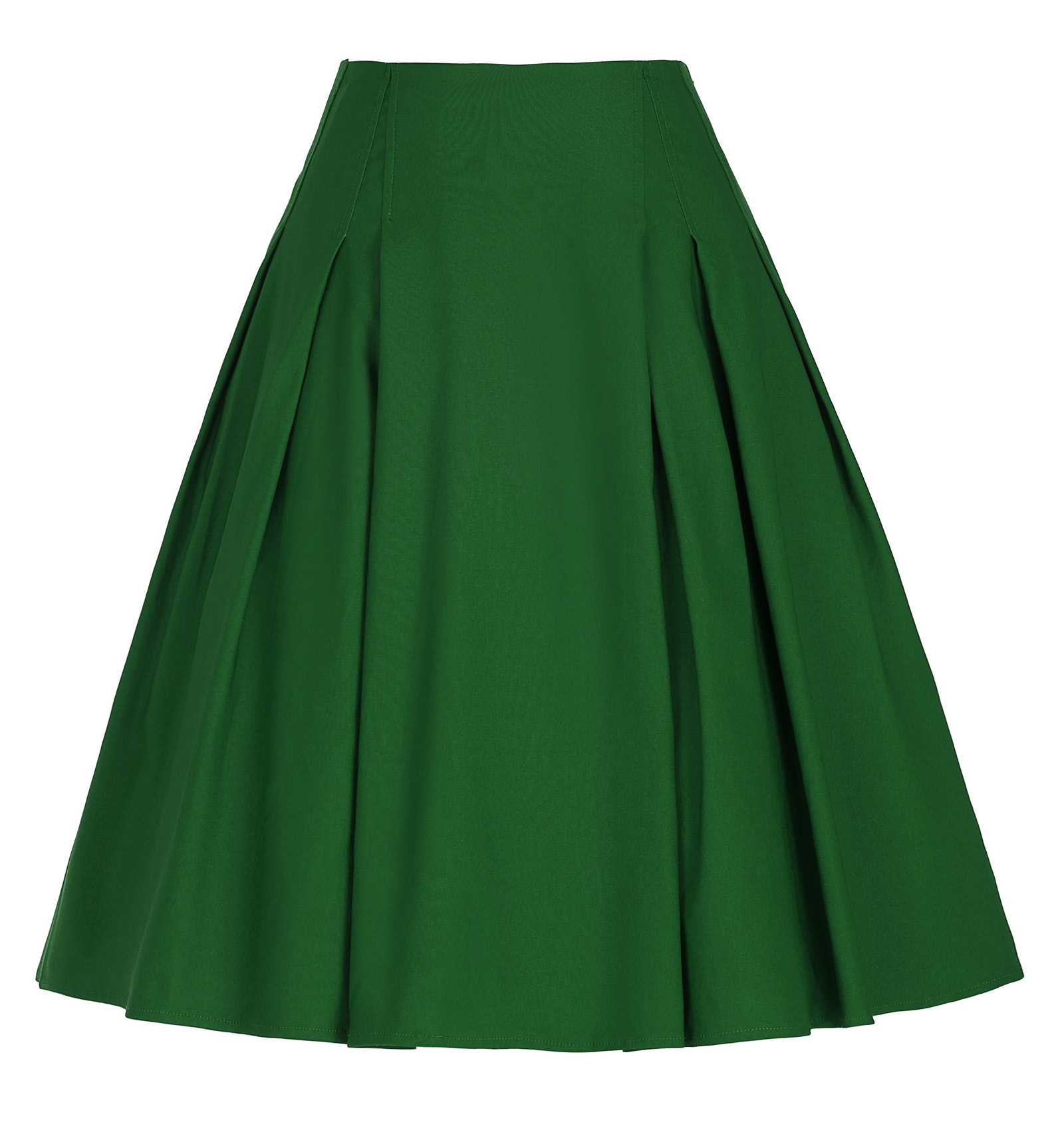 Vintage Retro skirt Women Black red green blue skirts knee High Stretchy A-Line Skirt punk rock gypsy skirt falda plisada