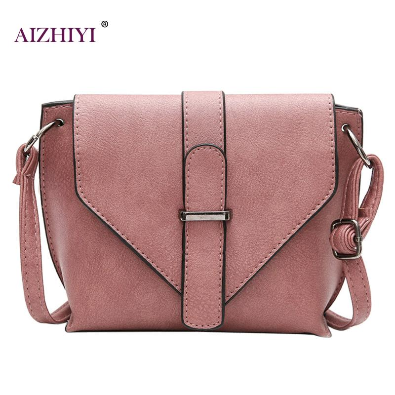 Women Messenger Crossbody Bags Fashion Girl Shoulder Bag Clutch Small Handbags Small PU Leather Crossbody Bags for Ladies 2018