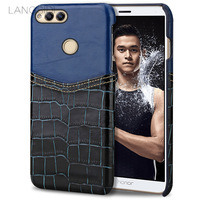 Wangcangli Phone Case Crocodile Pattern And Wax Leather Mixed Color Half Pack Phone Case For Huawei