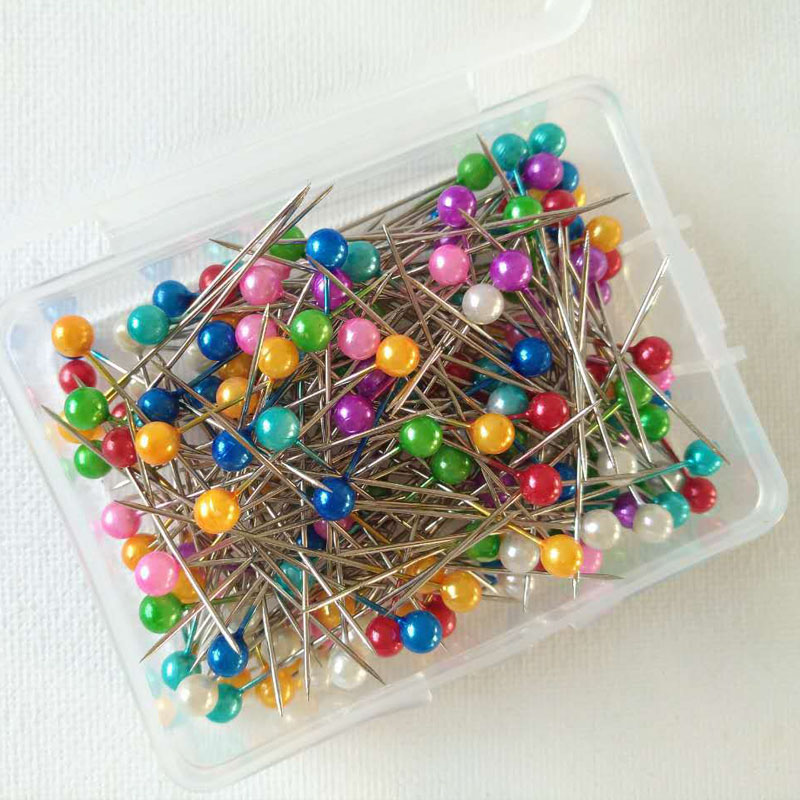 Wedding Dressmaking Pins Fixed Corsage Florists Hand Sewing Accessories Tools 200 Pcs Sewing Pin Round Pearl Head With Box