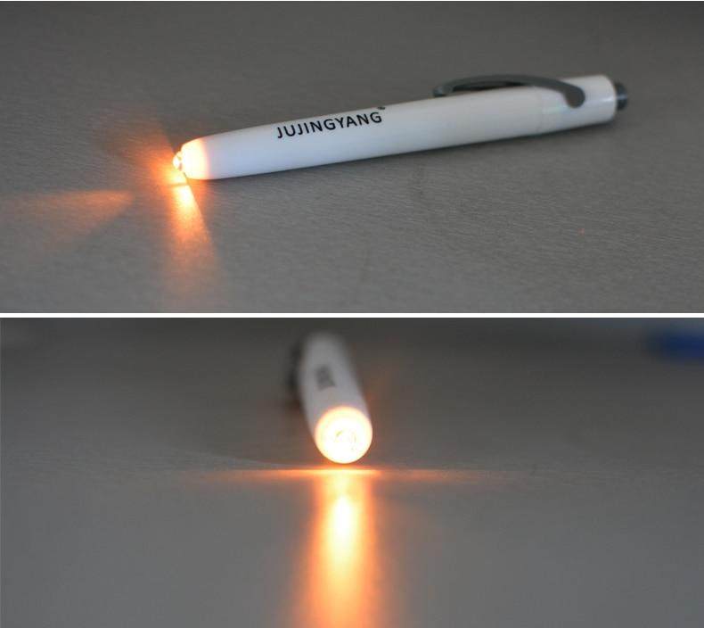Светодиодный светильник в виде медицинской ручки, желтый светильник, карманный мини-фонарь 0,5 Вт Светодиодный светильник-вспышка для врача, кемпинга