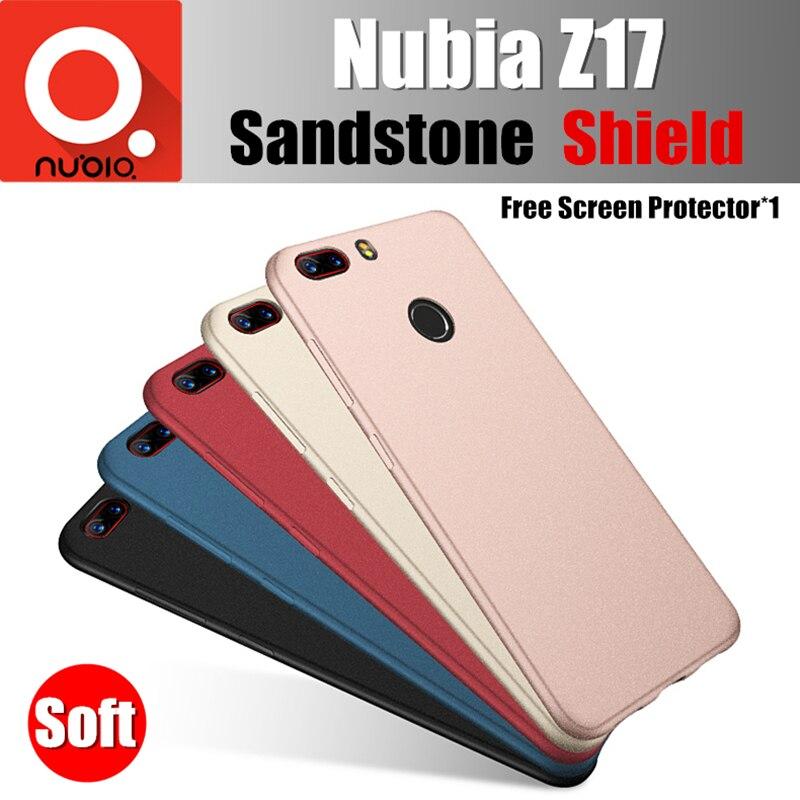 Nubia Z17 fall Ursprüngliche catman basierend auf snapdragon 835 super bequem weiche rückseitige abdeckung sandstein matt schild für nubia z17