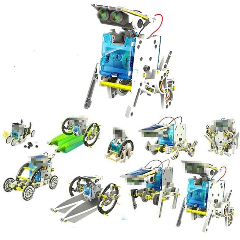 Divertido 13 en 1 Energía Solar Robot Kit DIY juguete alimentado por energía Solar juguetes transformación Kit Robot Educativo juguetes de regalo para muchacho de los niños