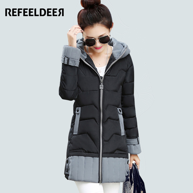 ФОТО Long Womens Winter Jackets And Coats 2016 Thick Warm Women Parka Women's Winter Jacket Female Cotton Anorak Manteau Femme