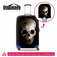 Dispalang Skull Suitcase Cover for Duffle Floral print Stretch Luggage Protector Cool Waterproof Luggage Cover for 18 30 inch