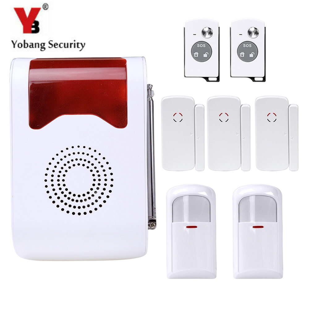 YobangSecurity Voice Security System Wireless Anti-theft Alarm Voice Control Access With PIR Motion Door Window Sensor Detector wireless home security alarm system anti theft vibration shock detector sensor alarm 120db voice for door window car