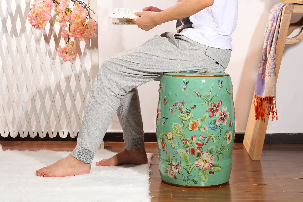 Home & garden hollow out  glazed ceramic garden stoolHome & garden hollow out  glazed ceramic garden stool
