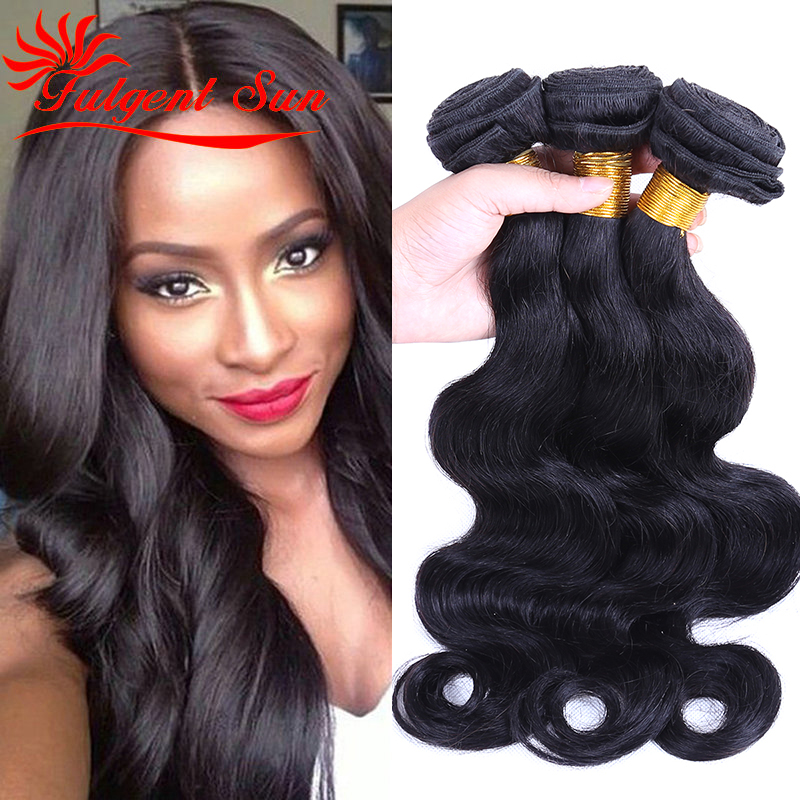 Indian virgin hair body wave lot indian human weave bundles 100g , unprocessed extension