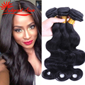 Indian virgin hair body wave 3 pcs lot indian human hair weave wave bundles 100g , unprocessed indian hair extension