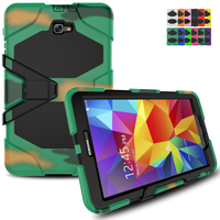 Free Shipping Spider Man Design Extreme Military Heavy Shockproof With Stand Hang Cover Case For IPad