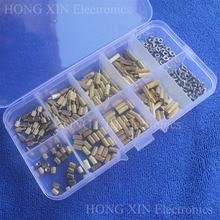 цена на 300Pcs/M2 Brass Male Female/Female Female Standoff Spacer Board Hex Screws Nut Assortment Box kit set with Plastic Box