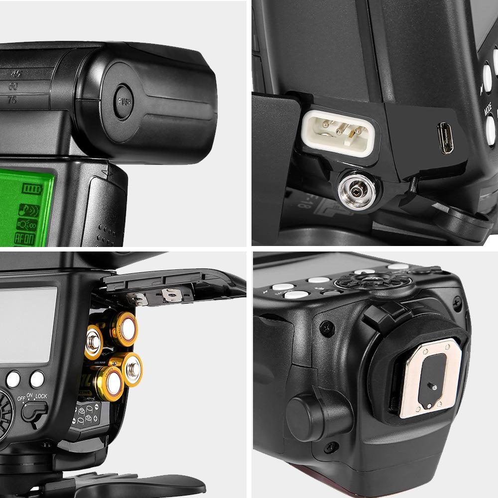 InseSI IN-560IV IN560IV PLUS & PIXEL M8 LCD FlashLight Bezdrátový - Videokamery a fotoaparáty - Fotografie 4