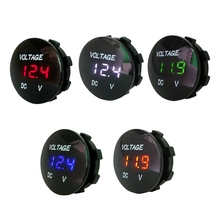 Car Motorcycle DC5V-48V LED Panel Digital Voltage Meter Display Voltmeter Type2 lrz cheap Digital Only OOTDTY Diameter 36mm 1 42in normal E15A4NB900208-BL Electrical 0 1V 5 - 48V Anode and cathode Plastic Black