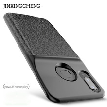 JINXINGCHENG Soft Frame Battery Case for Huawei Nova 3i 5200mah Back Clip Fast 18650 Charger Honor Play