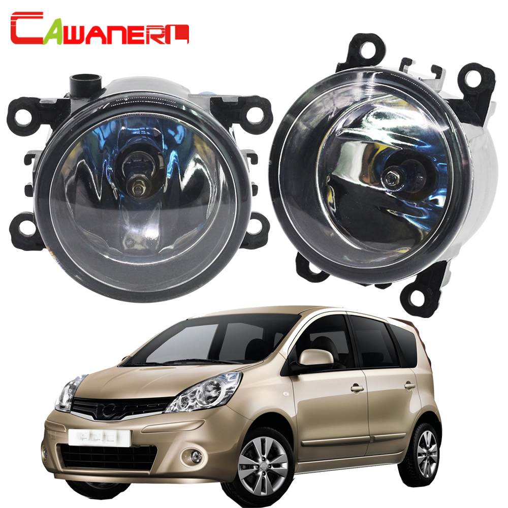 Cawanerl 2 X 100W H11 Car Halogen Front Fog Light Daytime Running Lamp DRL 12V Styling For Nissan Note E11 MPV 2006-2013 for nissan note e11 mpv 2006 2015 h11 wiring harness sockets wire connector switch 2 fog lights drl front bumper led lamp