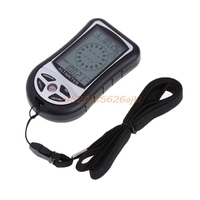 Digital 8 In 1 LCD Compass Barometer Altimeter Thermo Temperature Clock Calendar