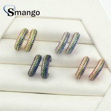 5 Pairs,The Rainbow Series,The Semicircle Shape Earrings for Women,Fashion Design, 4 Plating Color,Can Mix Can Wholesale
