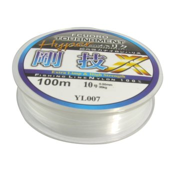 8 Pack 100m 0.55mm Diameter Clear Fsing Thread 23Kg 77.1lb Fishing Line Spool