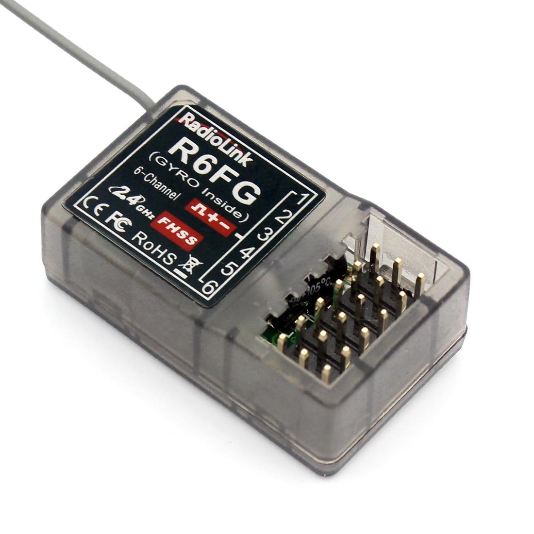 Radiolink R6FG 2.4GHz 6 Channel FHSS Receiver Radio Control System Gyro Integrant For RC4GS RC3S,RC4G T8FB Transmitter F21425