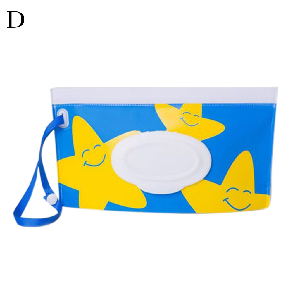 Brilliant Eco-friendly Wet Wipes Bag Clutch And Clean Wipes Carrying Case Clamshell Cosmetic Pouch Easy-carry Snap-strap Wipes Container Baby Care