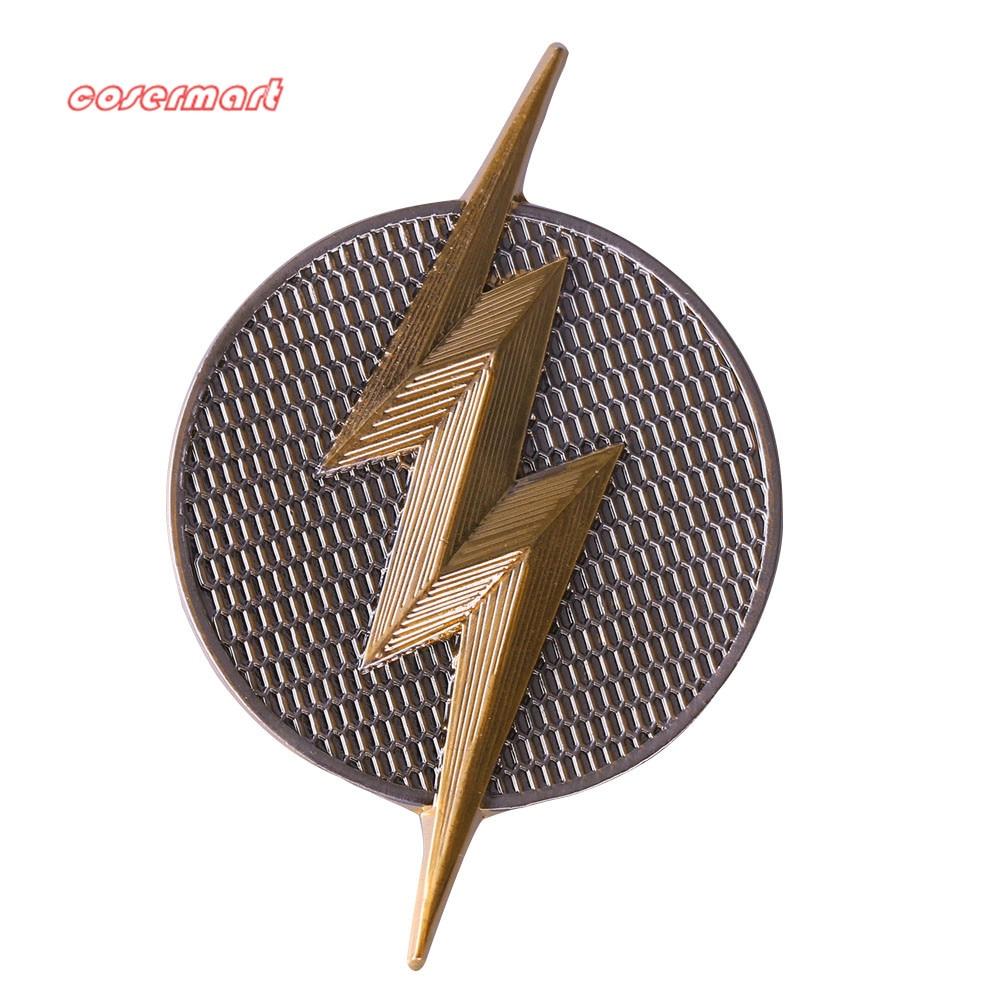 Justice League Mortal Flash Badge Brooch Pin Free Shipping Gold-plated  Lapel Pin Badge Hat Pin Tie Tack Cosplay