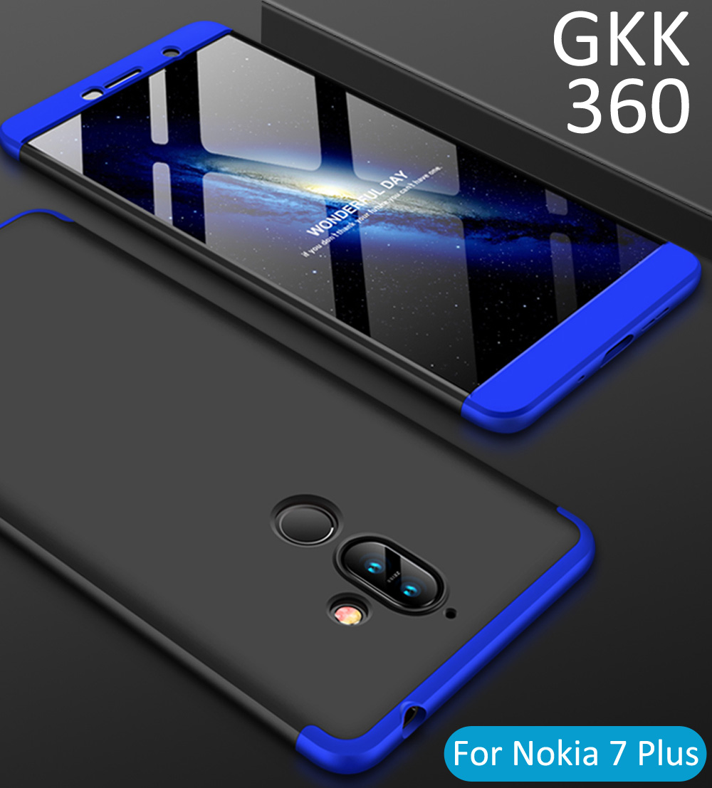 huge discount 3eb72 95d2c US $3.8 5% OFF GKK Case For Nokia 7 Plus 360 Full Protection Cover Ring  Holder Finger Grip-in Fitted Cases from Cellphones & Telecommunications on  ...